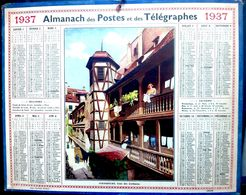 CALENDRIER 1937 DE LA POSTE STRASBOURG COMPLET DES FEUILLETS  BEL ETAT - Calendars