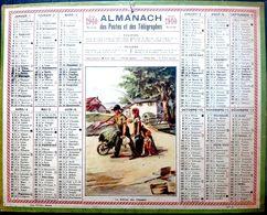 CALENDRIER 1940 DE LA POSTE RETOUR DES CHAMPS  COMPLET DES FEUILLETS  BEL ETAT - Calendars