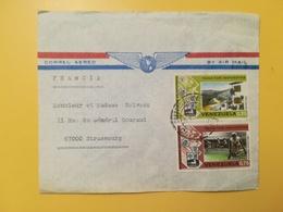 1974 BUSTA INTESTATA VENEZUELA BOLLO AIR MAIL PAGA IMPUESTOS TAXE ANNULLO OBLITERE' CARACAS TIMBRO PANAM - Venezuela