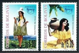 BOLIVIA 1997 - TRAJES REGIONALES - AMERICA UPAEP - YVERT Nº 965/966** - Bolivie