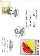 2817 (roi Léopold 1er) Sur Lettre Avec Cachet De Prévente  & Vignette Bruphila '99 (voir Scan & Descr) - Postmark Collection