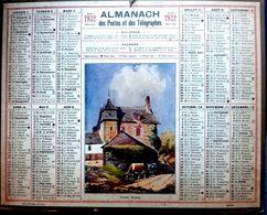 CALENDRIER 1932 DE LA POSTE MANOIR BRETON COMPLET DES FEUILLETS  BEL ETAT - Calendars