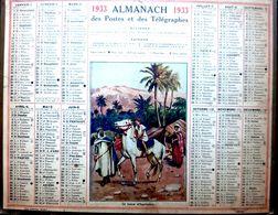 CALENDRIER 1933 DE LA POSTE LECON D'EQUITATION COMPLET DES FEUILLETS  BEL ETAT - Calendars