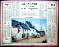 CALENDRIER 1934 DE LA POSTE SAILLE COMPLET DES FEUILLETS  BEL ETAT - Calendars