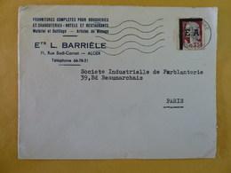 ENVELOPPE  OBLIERATION E.A. ; SUR MARIANNE DECARIS - Algerien (1962-...)
