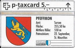 Switzerland PTT P: KP-93/78AO 309L Kanton Luzern - Amt Sursee, Pfeffikon - Suiza
