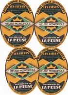 """Lot De 4 Etiquettes De Biére  """""""" MEUSE MONOPOLE """""""" ,bar Le Duc-sevres-nantes-moulins-beaucaire - Bier"""