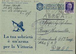 FRANCHIGIA WWII POSTA MILITARE 67 1942 BARI X P.M. 60 - 1900-44 Vittorio Emanuele III