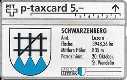 Switzerland PTT P: KP-93/78DG 329L Kanton Luzern - Amt Luzern, Schwarzenberg - Suiza