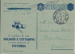 FRANCHIGIA WWII POSTA MILITARE 86 1942 KNIN CROAZIA X MODENA - 1900-44 Vittorio Emanuele III