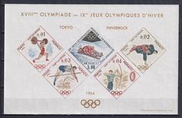 MONACO 1964, Mi# 784-788, CV €350, Imperf, Sheetlet, Sport, Olympics Tokyo, MNH - Zomer 1964: Tokyo