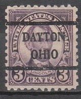 USA Precancel Vorausentwertung Preo, Bureau Ohio, Dayton 584-42, Stamp Thin - United States