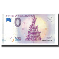 Italie, Billet Touristique - 0 Euro, Italy - Bologna - La Fontaine De Neptune - Otros