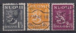 FINLAND - Michel - 1940 - Nr 230/32 - Gest/Obl/Us - Gebraucht