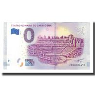 Espagne, Billet Touristique - 0 Euro, Spain - Cartagena - Le Théâtre Romain De - España
