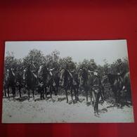 CARTE PHOTO SOLDATS CAVALIER NIMES ? - Militaria