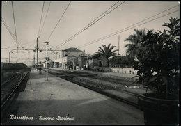 BARCELLONA (MESSINA) - INTERNO STAZIONE FERROVIARIA 1955 - Messina
