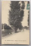 SAINTS (89 - Yonne) - 1909 - Route Et Croix De Saint-Prix - Animée - Sonstige Gemeinden