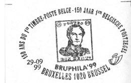 2832/37 (timbres BF 80) - Bruphila '99 - Les 6 Rois Belges - Sur Lettres Avec Cachet De Prévente  (voir 4 Scans & Descr) - Postmark Collection