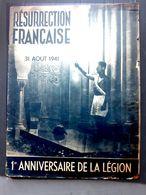 GUERRE 1939/1945 1° ANNIVERSAIRE DE LA LEGION 1941  COLLABORATION VICHY PETAIN MILICE DARLAN - 1939-45