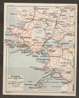 CARTE PLAN 1929 - BRETAGNE LES PLAGES DE LA LOIRE INFÉRIEURE - ROUTES CHEMINS DE FER -  LA TURBALLE LA BAULE PRÉFAILLES - Topographical Maps