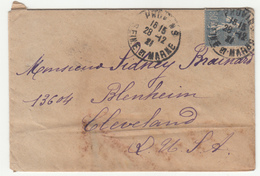 France Letter Cover Posted 1921 Provins Pmk B200601 - Francia