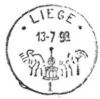 A VOIR !!! Le Perron De Liège Cachet Spécial Sur Lettre (voir 2 Scans & Descr) - Postmark Collection