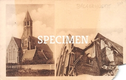 Kerk Achtergevel Vóór En Na De Verwoesting - Balgerhoeke - Maldegem