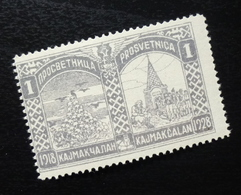 Yugoslavia 1928 Poster Stamp Cinderella Wwi Prosvetnica Kajmakcalan B11 - 1919-1929 Königreich Der Serben, Kroaten & Slowenen