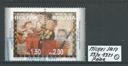 BOLIVIEN MICHEL SATZ 1320,1321 Paar Gestempelt Siehe Scan - Bolivie