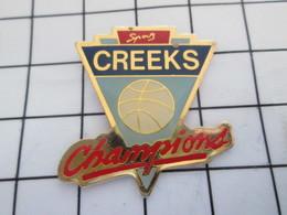 516b Pin's Pins / Beau Et Rare / THEME : SPORTS / BASKET-BALL CREEKS CHAMPIONS - Baloncesto