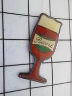 516b Pin's Pins / Beau Et Rare / THEME : BIERES / VERRE DE BIERE AMBREE RECORD - Bière