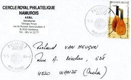 2914 (instrument Musique) Sur Lettre Avec Cachet Spécial (voir Scan & Descr) - Postmark Collection