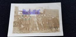 Cpp Guerre 1914.18 Convoi Camion Automobile Renault Ou Berliet , Militaires Chauffeurs Un Du 4è ( RI RA ? ) - Camion, Tir