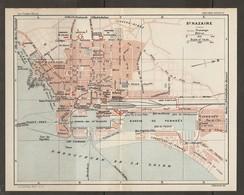 CARTE PLAN 1929 - SAINT NAZAIRE - CASINO CHANTIERS DE PENHOET Et De La LOIRE FORT D'ÉCHOUAGE PHARE - Topographische Karten