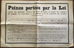 MILIEU DES ANNEES 30 / ELECTIONS / AFFICHETTE SUR LES PEINES PORTEES PAR LA LOI / FRAUDE SCRUTIN    N11 - Afiches