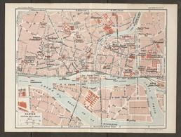 CARTE PLAN 1929 - NANTES CENTRE VILLE - VILLEBOIS MAREUILCHANTIERS De La LOIRE USINE à GAZ MUSÉES ILE GLORIETTE - Topographical Maps