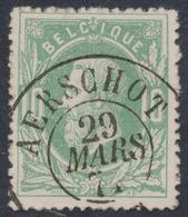 """émission 1869 - N°30 Obl Double Cercle """"Aerschot"""". Superbe / Collection Spécialisée - 1869-1883 Leopold II."""