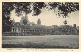 Cambodja      Ruines  Angkor Vath Aile Nord De La Façade Principale Ouest Des Galeriers Du 1er étage     M 3152 - Cambodia