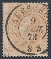 """émission 1869 - N°33 Obl Double Cercle """"Aerschot"""". Superbe / Collection Spécialisée - 1869-1883 Leopold II."""