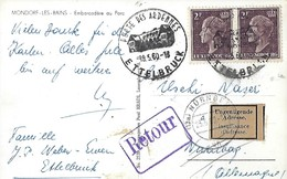 Luxembourg - Carte Retour 1960 -  2 Scans - Luxembourg