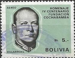 BOLIVIA 1968 400th Anniversary Of Cochabamba - 5p President G. Villarroel FU - Bolivie