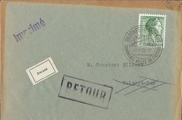 Luxembourg - Lettre Retour - 2.4.1965 - Luxembourg