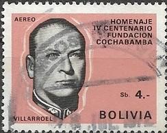 BOLIVIA 1968 400th Anniversary Of Cochabamba - 4p President G. Villarroel FU - Bolivie