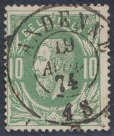 "émission 1869 - N°30 Obl Double Cercle ""Andenne"" / Collection Spécialisée - 1869-1883 Leopold II."