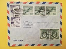 1960 BUSTA INTESTATA CILE CHILE BOLLO AIR MAIL POSTA AEREA ANTARTIC EXFINA 58 ANNULLO OBLITERE' ARICA - Chili