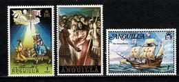 Anguila 1972/73 Yv 129, 136, 142**, Scott 163, 168, 178**, Mi 162, 167, 177**, SG 147, 152, 159** 3 Stamps MNH - Anguilla (1968-...)