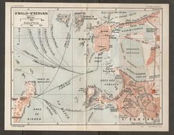 CARTE PLAN 1930 - SAINT MALO St SERVAN - LABORATOIRE MARITIME AQUARIUM BALNÉUM CASINO PETIT Et GRANS BÉ - Cartes Topographiques