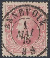 """émission 1869 - N°34 Obl Double Cercle """"Annevoie"""". Superbe / Collection Spécialisée - 1869-1883 Leopold II."""