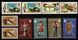Antigua 1970/1976 -  10 Stamps MNH - Antigua Et Barbuda (1981-...)
